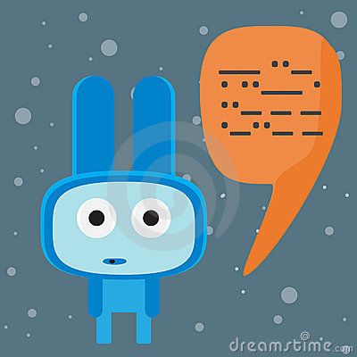 Blue alien speaking to you character