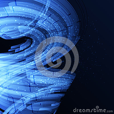 Free Blue And Black Techno Abstract Background Royalty Free Stock Images - 35892739