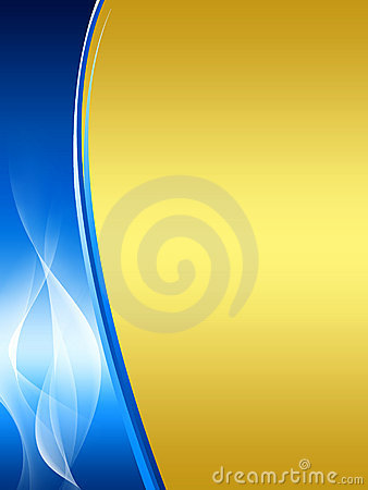 Free Blue And Gold Abstract Background Royalty Free Stock Photos - 11841338