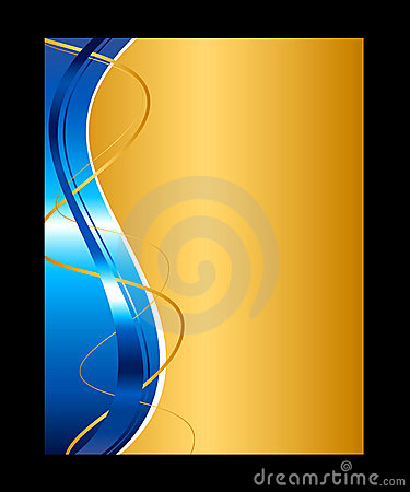 Free Blue And Gold Abstract Background Royalty Free Stock Photo - 13330535