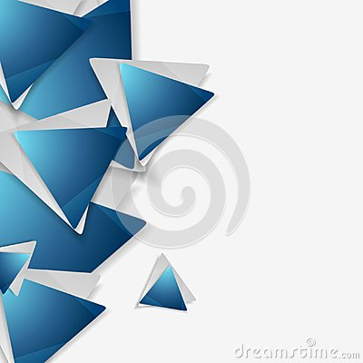 Free Blue And Grey Triangles Tech Geometric Background Royalty Free Stock Photography - 110423147