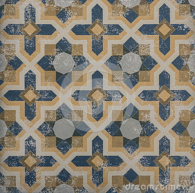 Free Blue And Orange Pattern Tile Royalty Free Stock Photography - 69110837
