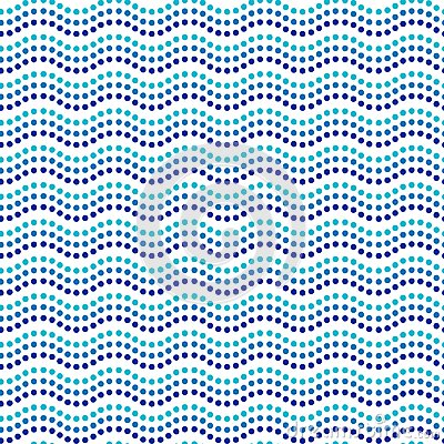 Free Blue And White Dot Art Wavy Lines Ethnic Australian Seamless Pattern, Vector Royalty Free Stock Photos - 107297798