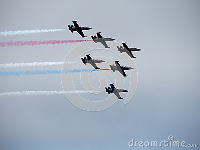 Blue Angel Planes flying in close formation Editorial Stock Image