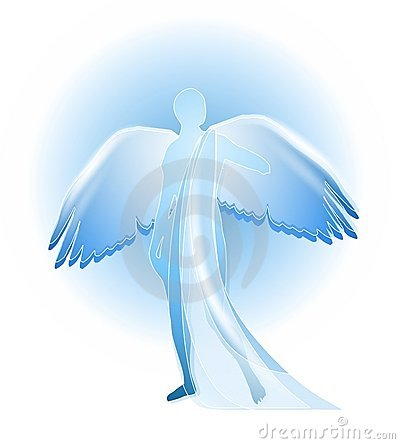 Free Blue Angel Silhouette Royalty Free Stock Photography - 4463257