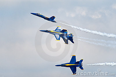 Blue Angels Formation Editorial Photography