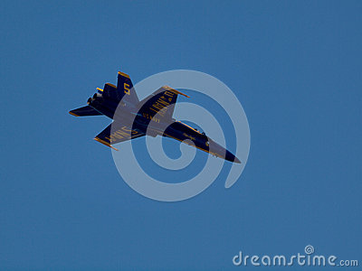 Blue Angels Jet flies above Editorial Image