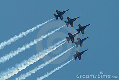 The Blue Angels jet squadron f
