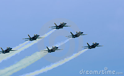 Blue Angels July 10, 2009 air show Editorial Photography