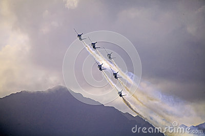 Blue Angels at Kaneohe Airshow Editorial Stock Photo