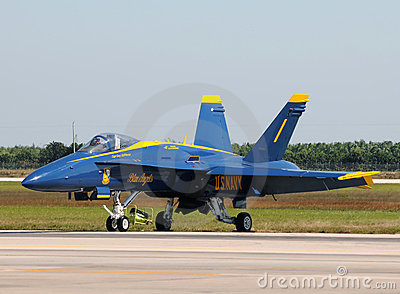 Blue Angels Number 1 fighter jet Editorial Photo