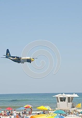 Blue Angels Pensacola Beach Airshow Editorial Stock Photo