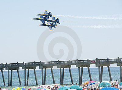 Blue Angels Pensacola Beach Airshow Editorial Image