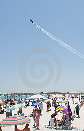 Blue Angels Pensacola Beach Airshow Editorial Stock Photo