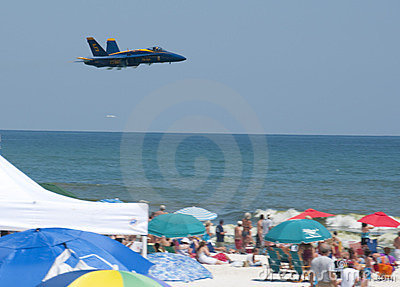 Blue Angels Pensacola Beach Airshow Editorial Photography