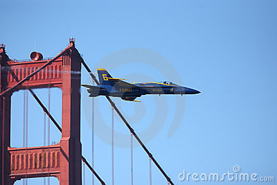 Blue Angels San Francisco Golden Gate Bridge 2011 Editorial Photography
