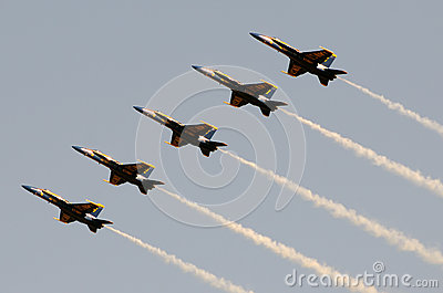 Blue Angels at sunset Editorial Stock Photo