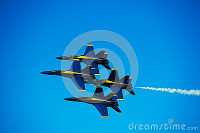 Blue Angles Editorial Photo