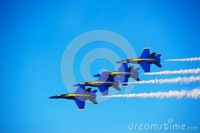 Blue Angles Formation Editorial Image