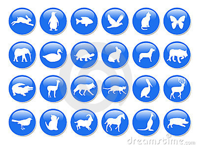 Blue animal icons