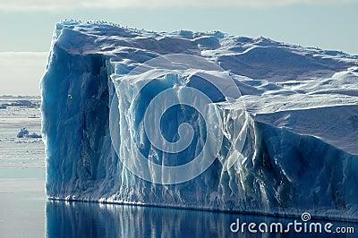 Blue Antarctic iceberg
