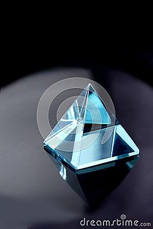 Blue Aquamarine Crystal Pyramid Stock Image Image 9442821