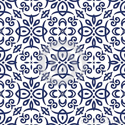 Free Blue Arabesque Pattern Stock Photography - 108913052