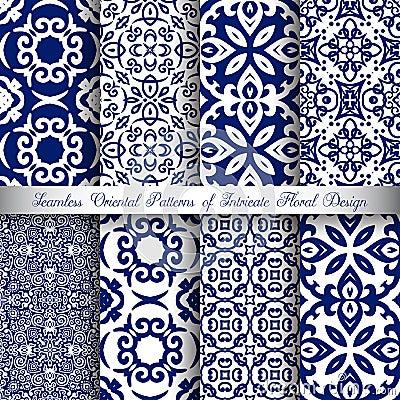 Free Blue Arabesque Patterns Royalty Free Stock Photo - 109187315