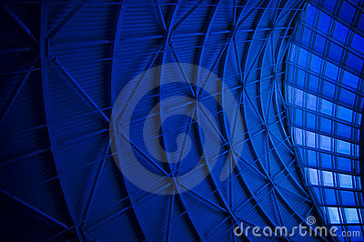 Blue Architectural Abstract