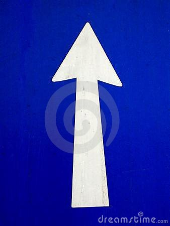 Blue Arrow Going up growth