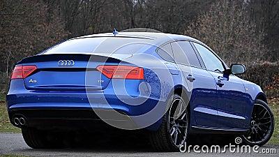 Blue Audi Sports Car Free Public Domain Cc0 Image
