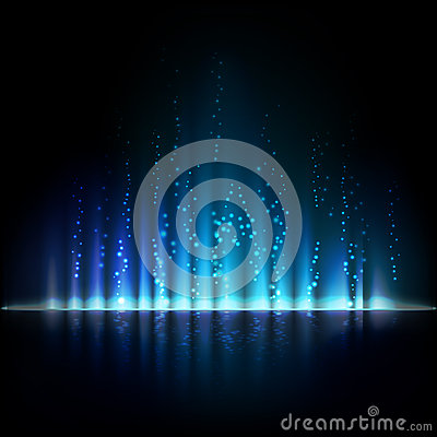 Free Blue Aurora Light. Abstract Vector Backgrounds Royalty Free Stock Photos - 53797558