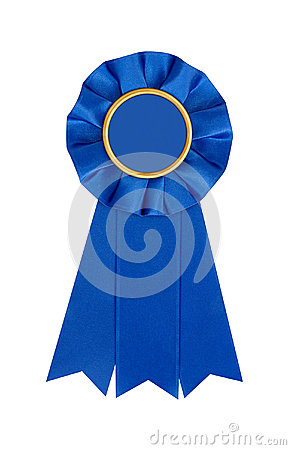 Free Blue Award 1st Place Winner Ribbon Royalty Free Stock Images - 51952079