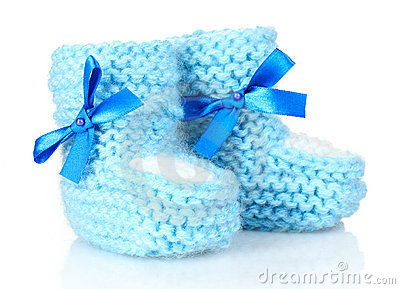 Blue Baby Booties Royalty Free Stock Photography - Image: 20249507