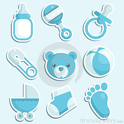Blue baby boy Icons