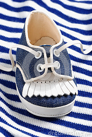 Blue baby shoe