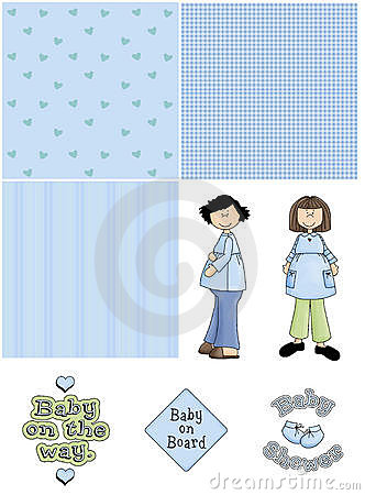 Blue Baby Shower Clipart