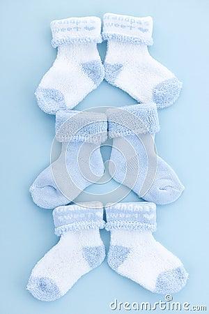 Free Blue Baby Socks Royalty Free Stock Photo - 19741425
