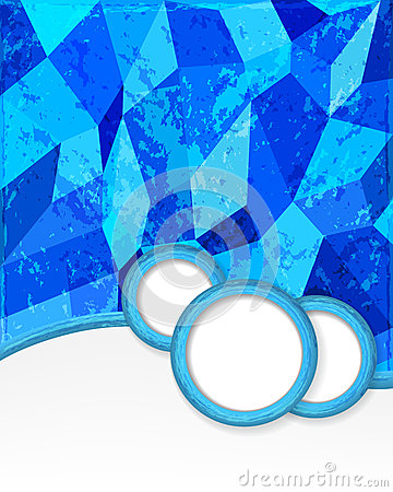 Blue background with circles in grunge style.