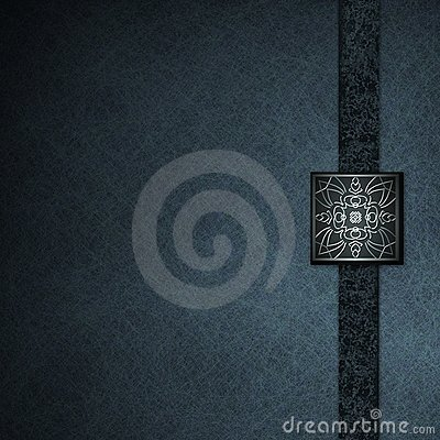 Blue Background with Elegant Embossed Seal Stock Photo