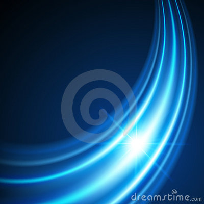 Blue background with light