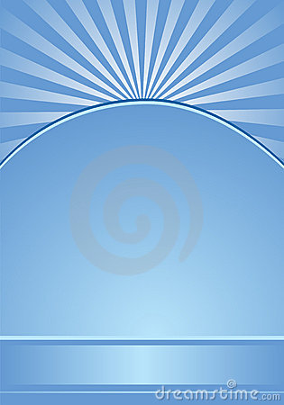 Blue background with radial stripes