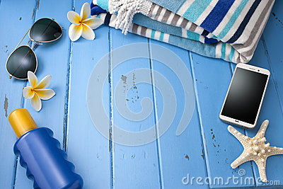 Vacation Tropical Travel Blue Background