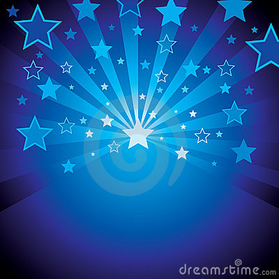 Free Blue Background With Stars Stock Photo - 10529860