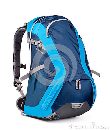 Free Blue Backpack Stock Photo - 31371800