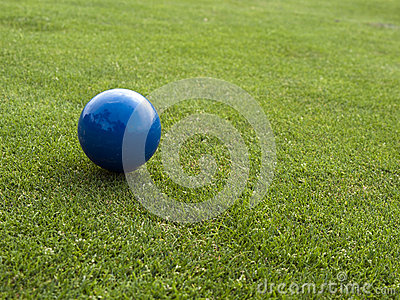 Blue ball on the golf course