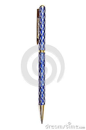 Blue ball point pen