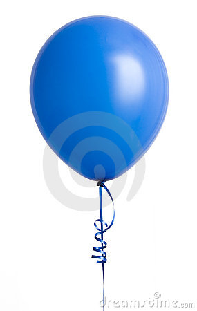 Blue Balloon on White