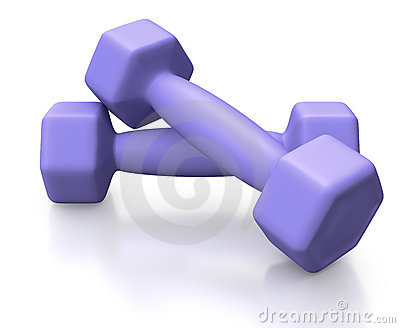 Blue barbells for training lifestyle