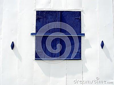 Blue Barn Window